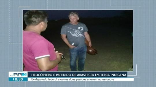 Helicóptero fica retido após tentar abastecer em comunidade indígena de Roraima