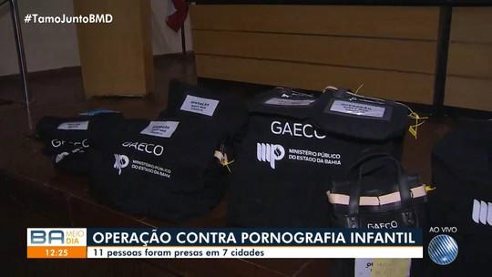 Mais de 10 pessoas são presas em flagrante em operação contra pornografia infantil na Bahia