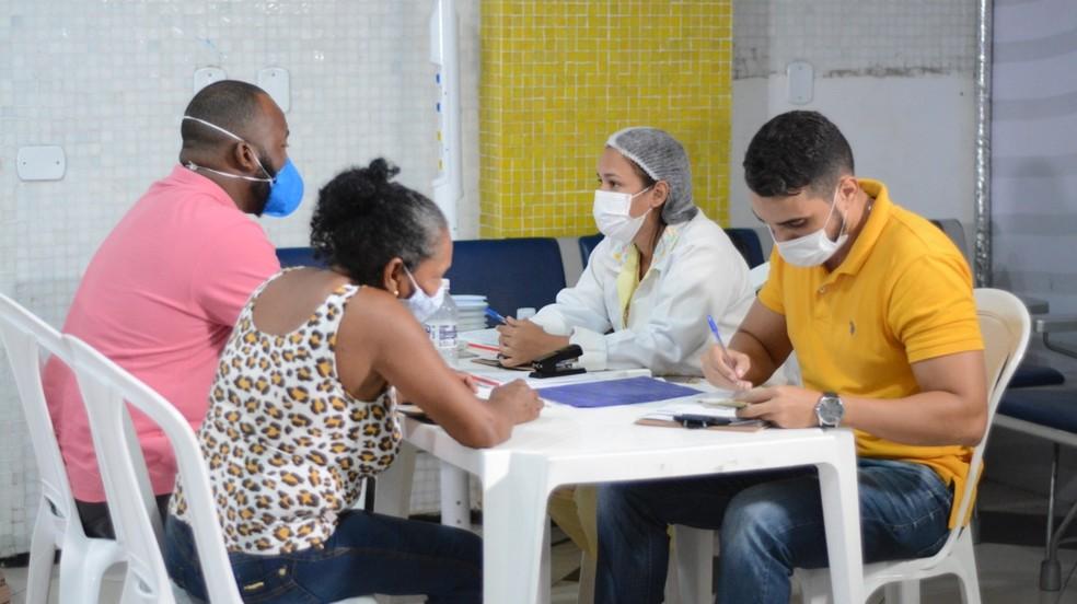 Governo instala ponto de testagem contra a Covid-19 no Aeroporto Marechal Hugo da Cunha Machado, de São Luís (MA) — Foto: Jeferson Stader/Governo do Maranhão