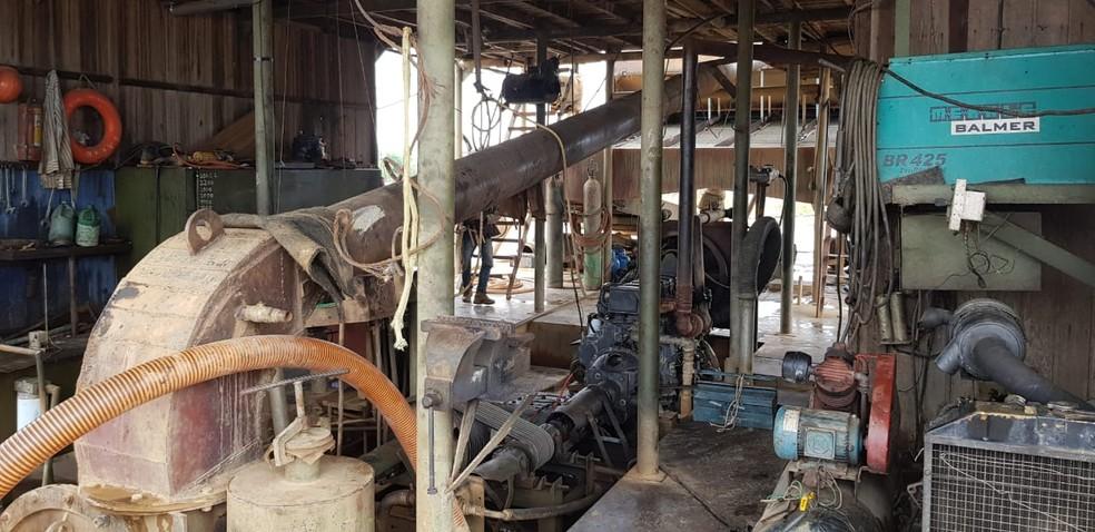 Objetivo foi frear o garimpo ilegal na região.  — Foto: PF/Divulgação