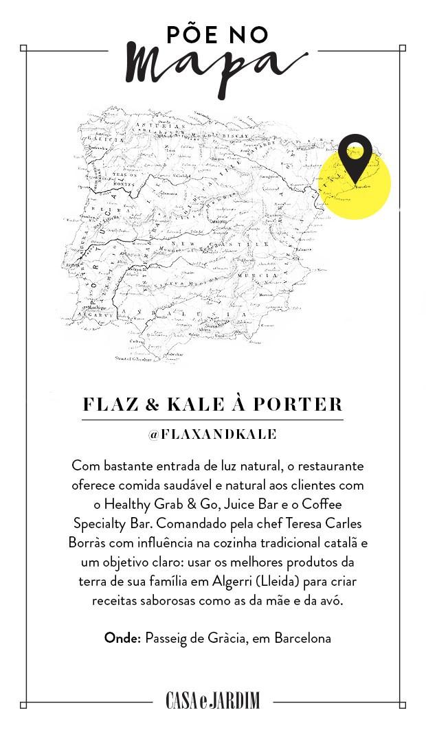 FLAX & KALE à Porter, em Barcelona (Foto: Victor Amirabile)