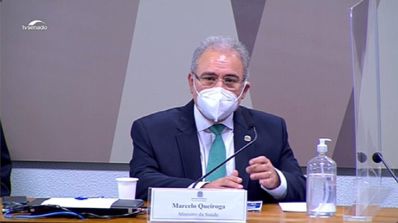 VÍDEOS: trechos do depoimento do ministro da Saúde Marcelo Queiroga na CPI da Covid