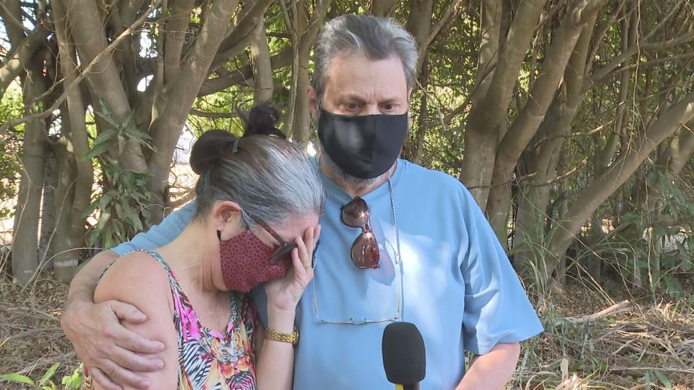 Maria Celeste e Luiz Sérgio se revoltaram contra atropelamento de filha Tatiana Matsunaga, no DF — Foto: TV Globo/Reprodução