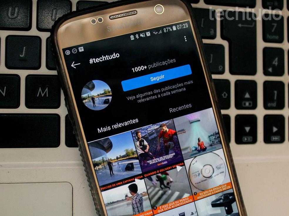 Hashtags para Instagram ajudam a impulsionar conteúdo — Foto: Caroline Doms/TechTudo