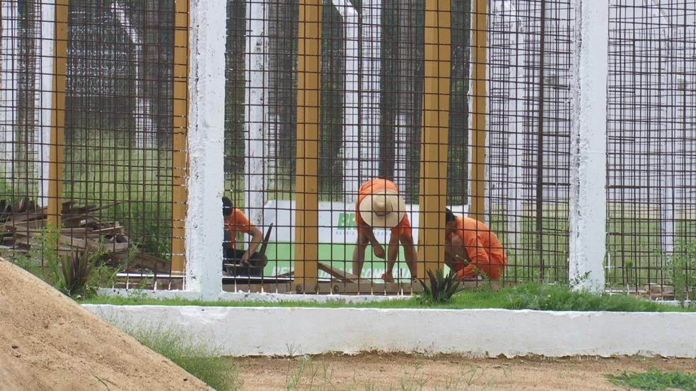 Os próprios detentos serão responsáveis pela reconstrução das celas destruídas na unidade — Foto: Rede Amazônica/Reprodução