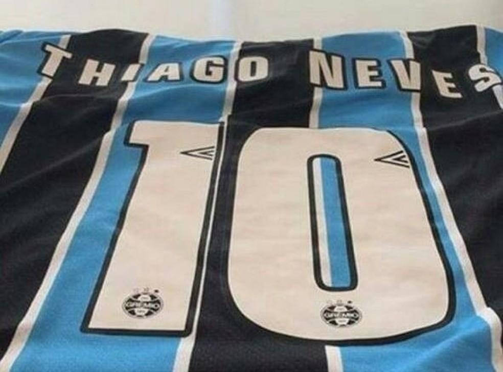 Thiago Neves vestirá a camisa 10 no Grêmio — Foto: Reprodução / Instagram