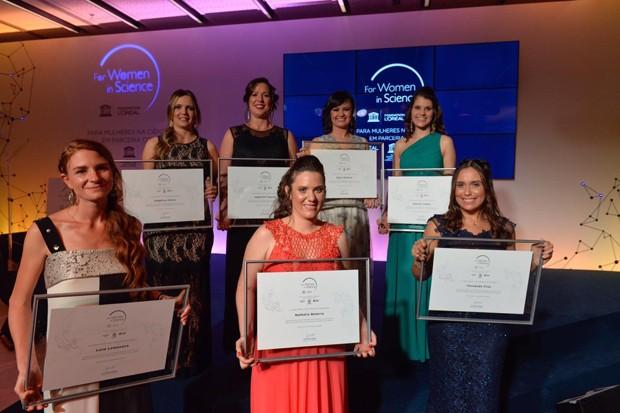 As vencedoras do prêmio Para Mulheres na Ciência (Foto: Fabio Cordeiro / Divulgação)