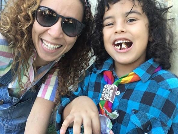 Thalita Carauta e o filho, Bento (Foto: Reprodução)