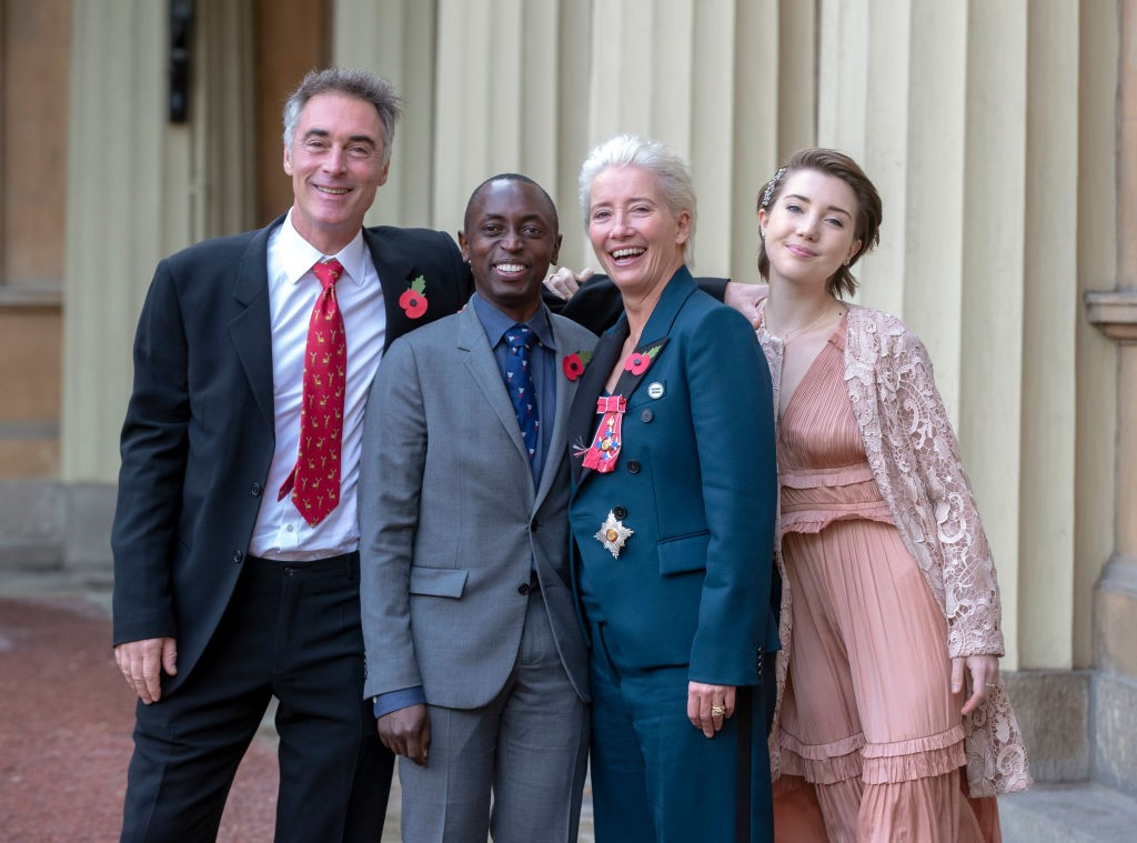 Emma Thompson, Greg Wise, Gaia Wise e Tindy Agaba (Foto: Getty Images)
