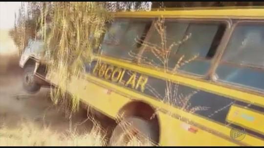 Crianças ficam feridas após ônibus escolar bater em barranco em Três Pontas