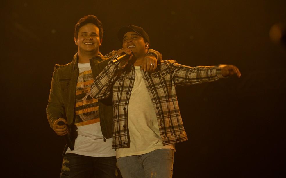 Matheus e Kauan se apresentam neste sábado em Goiânia — Foto: Érico Andrade/G1