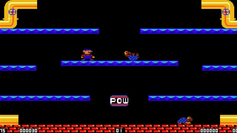 Mario Brothers VGA é uma versão não oficial do clássico game dos arcades que funciona muito bem — Foto: Reprodução/Rafael Monteiro