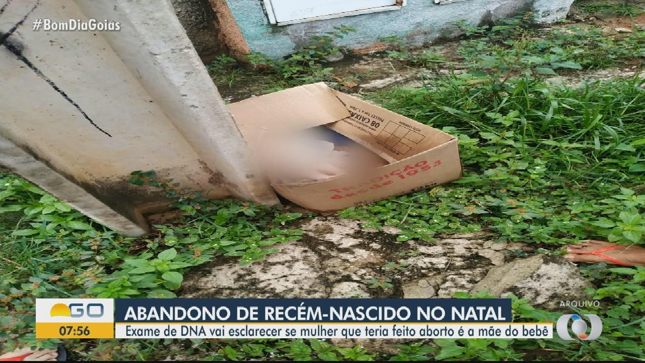 Exame vai esclarecer se mulher que teria feito aborto é a mãe de bebê abandonado em Goiás