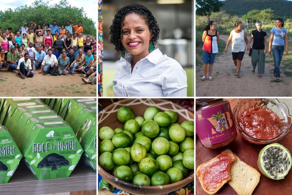 Cooperativa baiana formada por maioria de mulheres produz doces com frutas nativas da caatinga — Foto: Arquivo pessoal/Denise Cardoso/Jussara Dantas