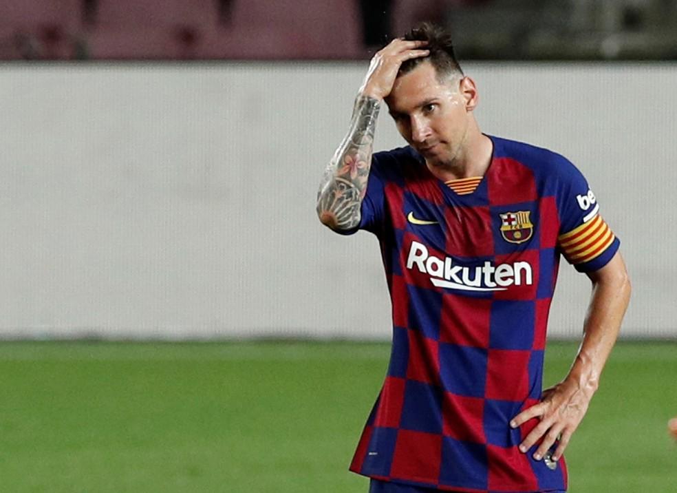 Messi tem contrato com o Barcelona até junho de 2021 — Foto: Albert Gea/Reuters
