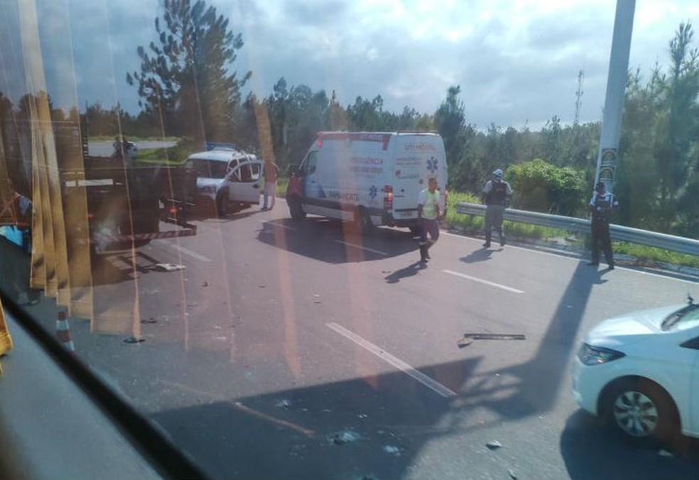 Vítima foi levada para o Hospital do Subúrbio. — Foto: Arquivo Pessoal