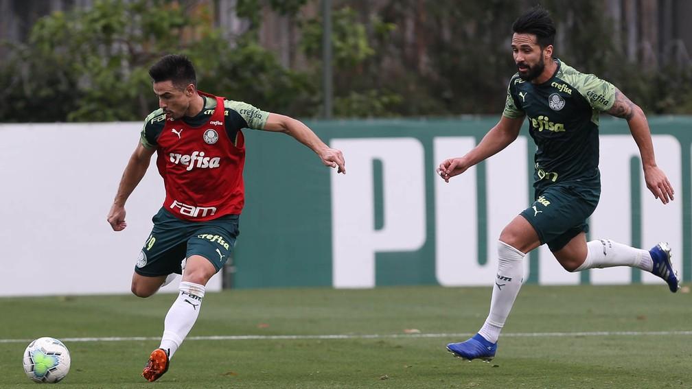 Palmeiras se reapresenta após goleada, Luan volta a treinar com bola e deve ser titular no domingo; veja provável time