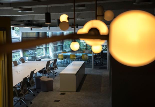 Hub para startups Opp: 621 metros quadrados, 90 posições de trabalho e cinco salas de reunião (Foto: Divulgação)