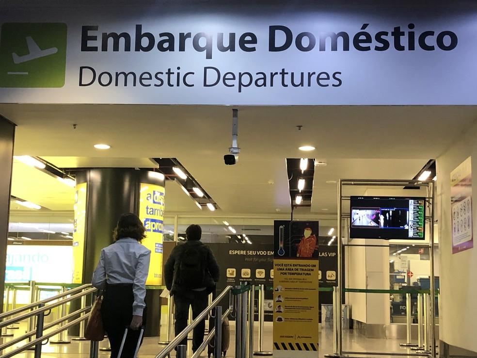 Portão de embarque doméstico do Aeroporto de Brasília, em imagem de arquivo — Foto: Inframérica/Divulgação
