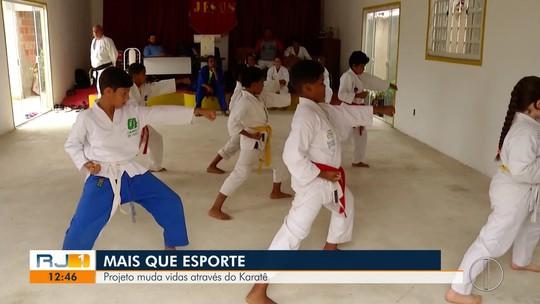 Projeto muda vidas através do karatê em Macaé, no RJ