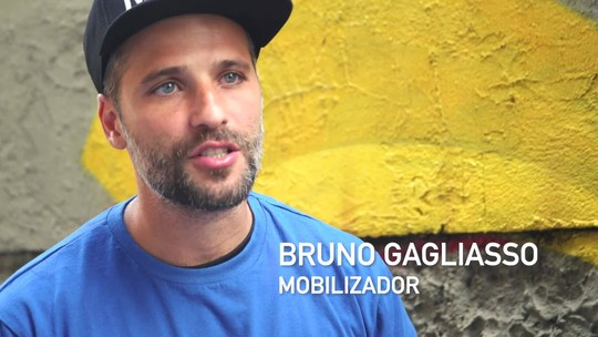 Bruno Gagliasso visita a CUFA (Central Única das Favelas)