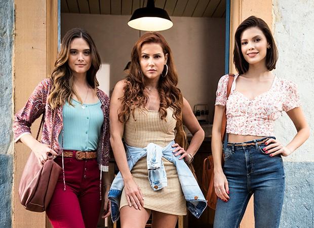 Deborah Secco, Juliana Paiva e Vitória Strada são as protagonistas de Salve-se quem puder (Foto: Globo/ João Miguel Júnior)