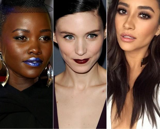 Lupita Nyongo, Rooney Mara e Shay Mitchel (Foto: Getty Images)