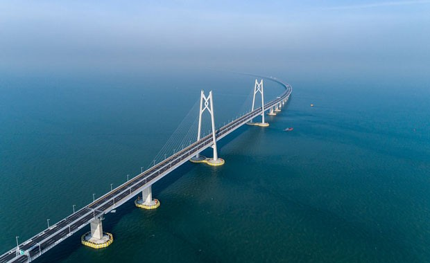 Maior ponte marítima do mundo é inaugurada na China (Foto: Getty Images)