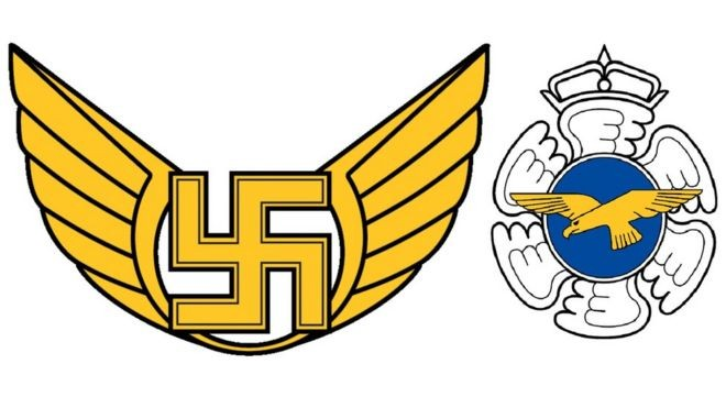 Força Aérea da Finlândia troca discretamente emblema com suástica