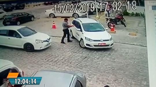 Câmera flagra assassinato de taxista em briga de trânsito em João Pessoa