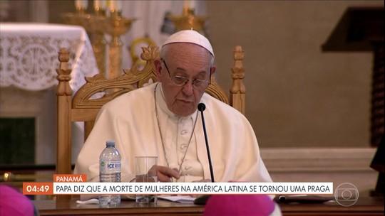 Papa diz que a morte de mulheres na América Latina se tornou uma praga