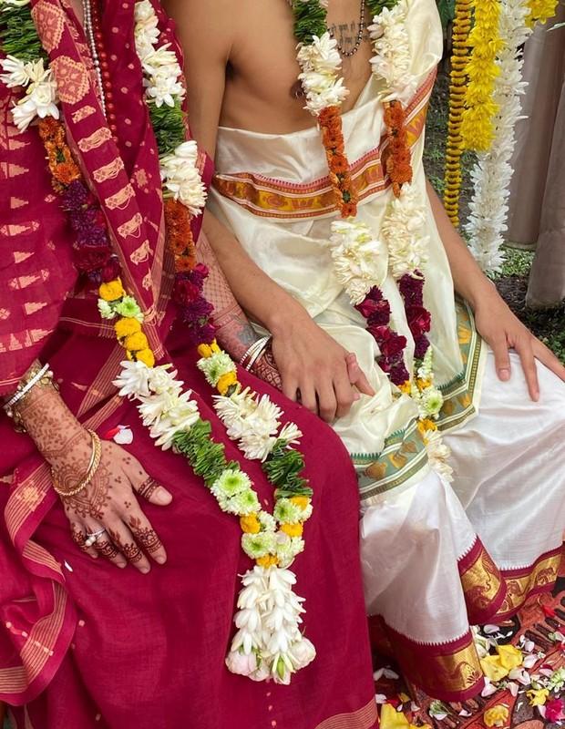 Mariana Maffeis teve um casamento védico com Badarik González (Foto: coleção pessoal)