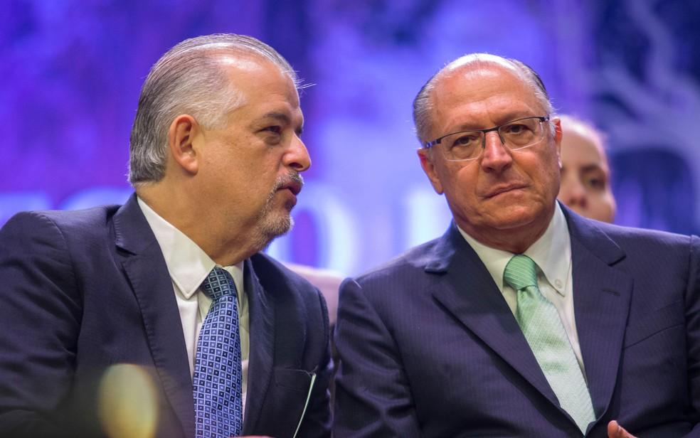 Márcio França e Geraldo Alckmin em evento (Foto: Divulgação/Governo de São Paulo)