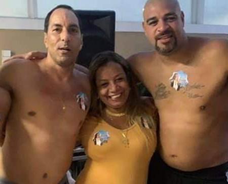 Edmundo, Delegada Adriana Belem e Adriano Imperador