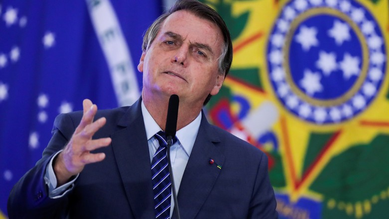 Presidente Jair Bolsonaro durante cerimônia no Palácio do Planalto (Foto: REUTERS/Ueslei Marcelino)