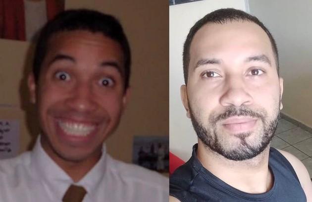 Gilberto na época em que era missionário e atualmente (Foto: Reprodução)