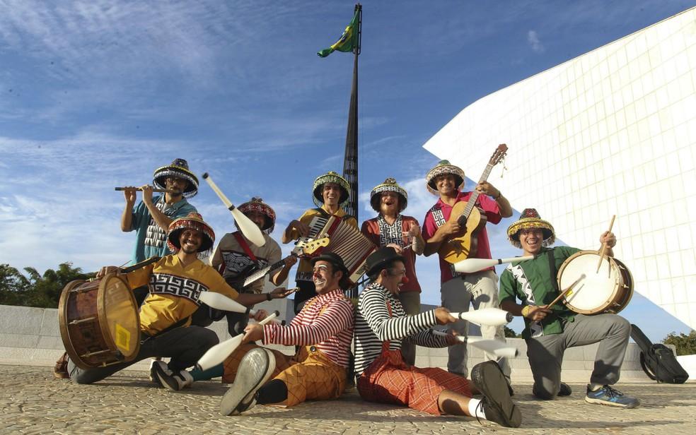 Grupo brasiliense de cultura popular Pé de Cerrado (Foto: Toninho Tavares/Agência Brasília/Divulgação)