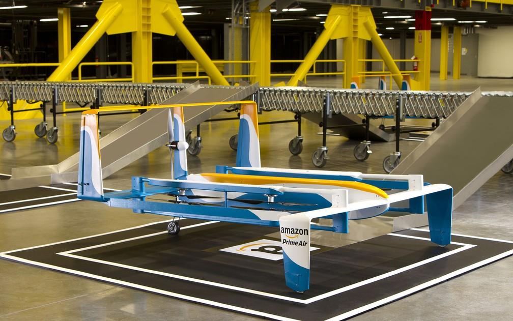 Prime Air, novo drone da Amazon para realizar entregas de produtos. — Foto: Divulgação/Amazon