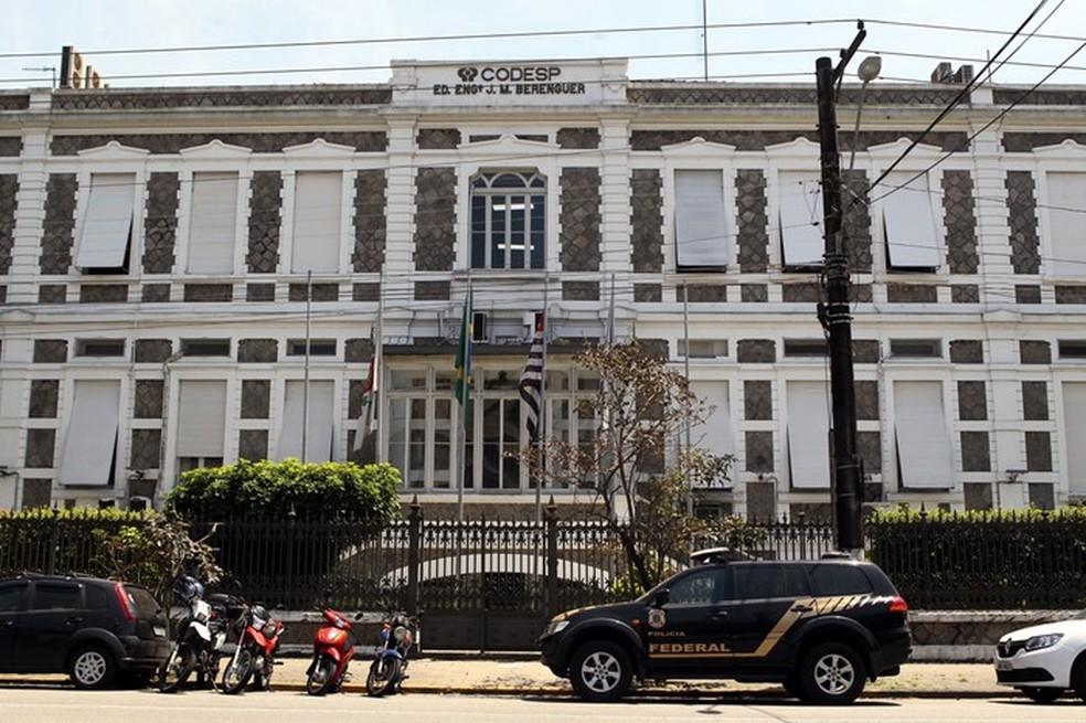 Companhia Docas do Estado de São Paulo (Codesp) é alvo da Operação Tritão — Foto: Rogério Soares/Arquivo