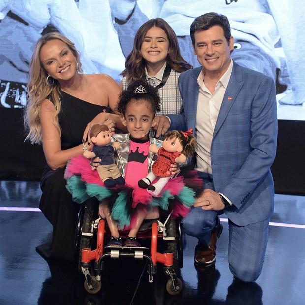 Eliana, Maisa Silva, Celso Portiolli e Luara Crystal (Foto: Francisco Cepeda/AgNews)