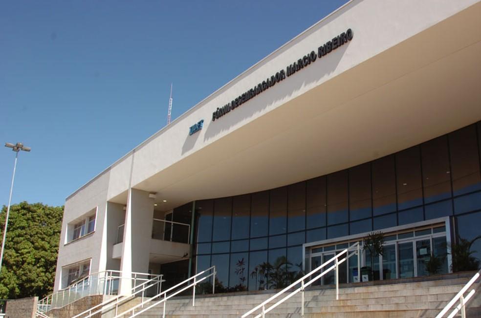 Fachada do Tribunal de Justiça em Brazlândia, no DF (Foto: TJDFT/Divulgação)