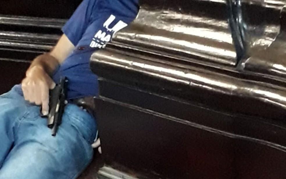 Atirador cometeu suicídio após crimes na Catedral — Foto: Reprodução/EPTV