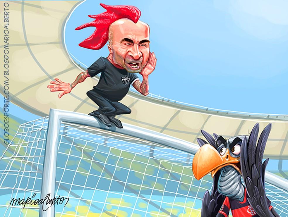 9/8/2020 - 1ª RODADA - Flamengo 0x1 Atlético-MG — Foto: Mario Alberto