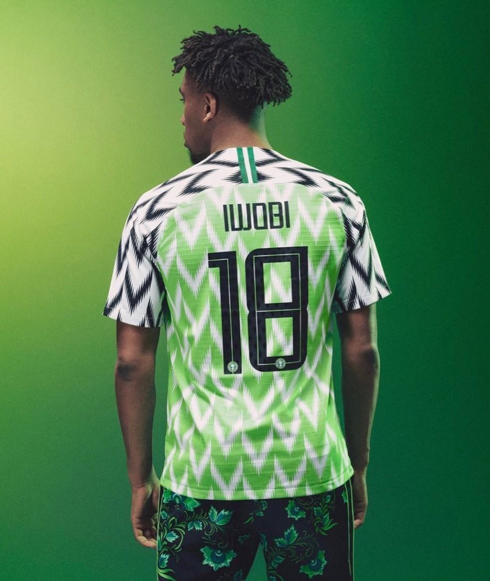 Novo kit da seleção nigeriana (Foto: Divulgação / Nike)
