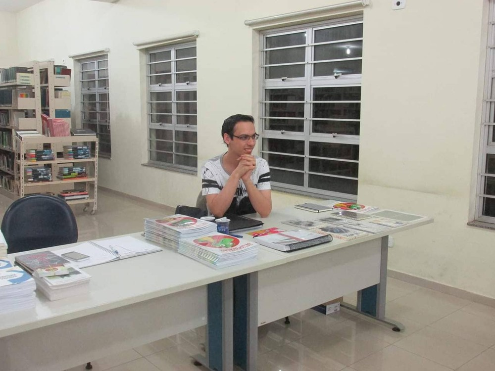 Escritor fala sobre literatura infantil no interior de SP — Foto: João Paulo Hergesel/Arquivo Pessoal