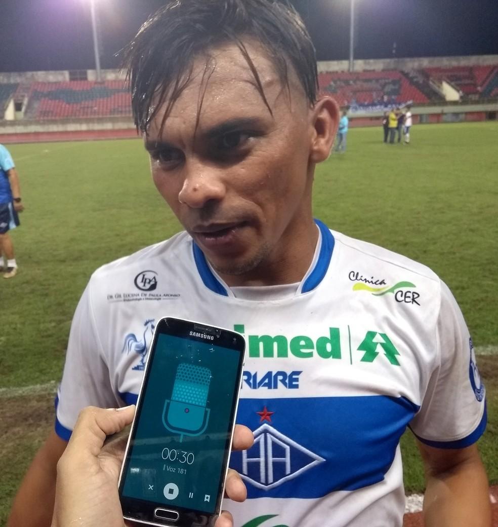 Araújo Jordão foi titular no clássico que decidiu o 2º turno do Acreano e classificou o Atlético-AC para a decisão do estadual — Foto: Duaine Rodrigues