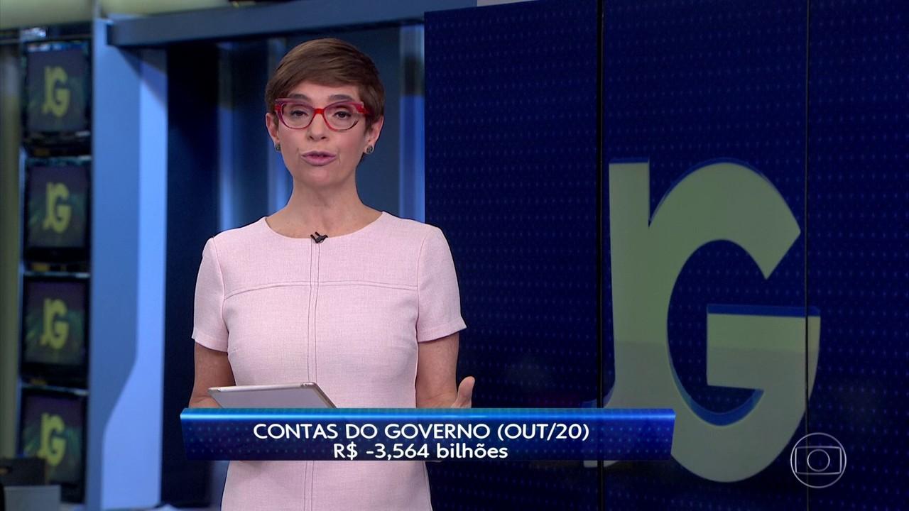 Contas do governo têm défict de R$ 3,56 bilhões em outubro