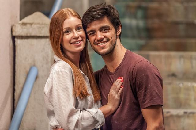 Eliza (Marina Ruy Barbosa) e Jonatas (Felipe Simas) (Foto: Globo/Artur Meninea)
