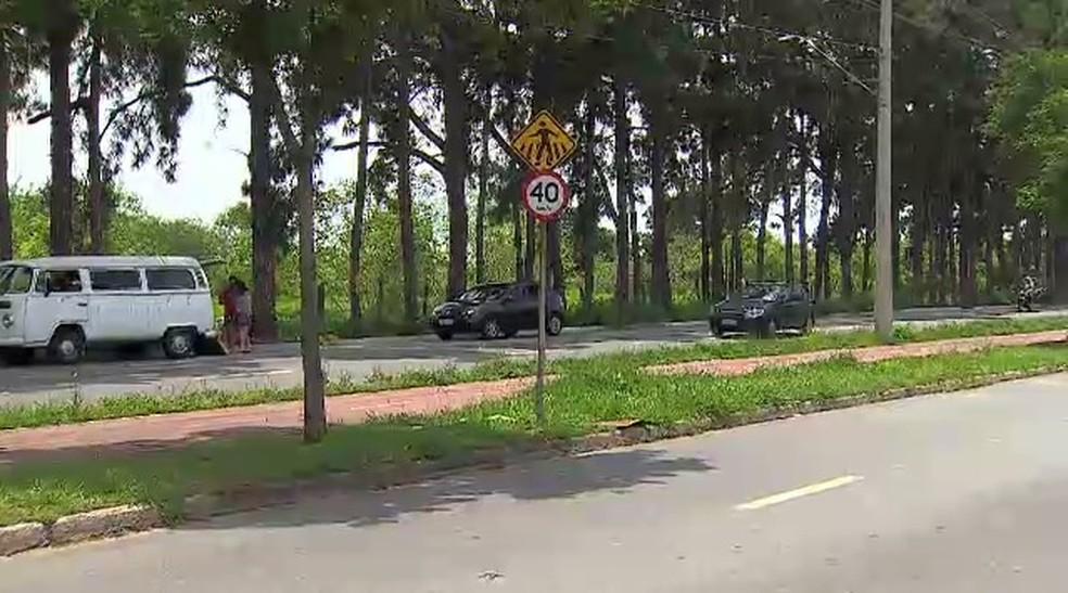 No trecho da avenida do Imperador em que Gabriele foi atropelada, a velocidade máxima permita é de 40km/h. (Foto: Reprodução/TV Vanguarda)