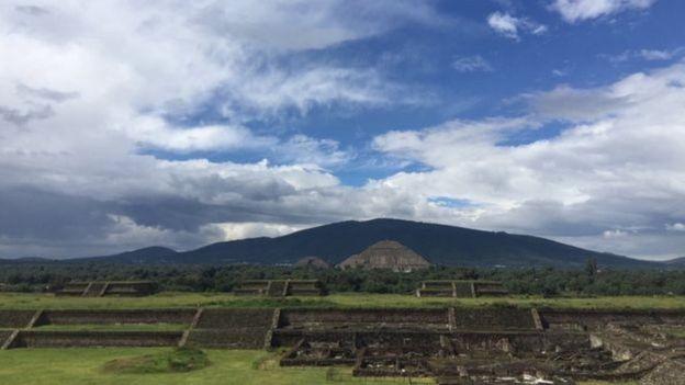 Teotihuacán chegou a ter uma área de 23 km quadrados e entre 150 mil e 200 mil habitantes (Foto: Divulgação)
